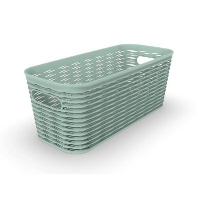 5L 1/2 Medium Wave Design Storage Bin Green - Room Essentials™