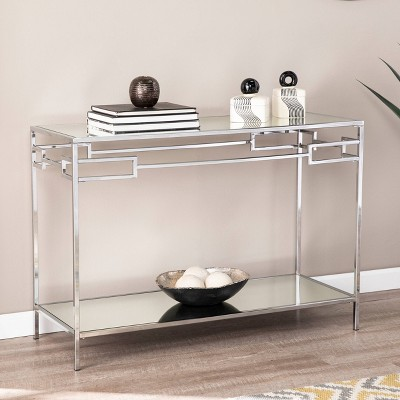 Deling Mirrored Console Table Chrome - Aiden Lane