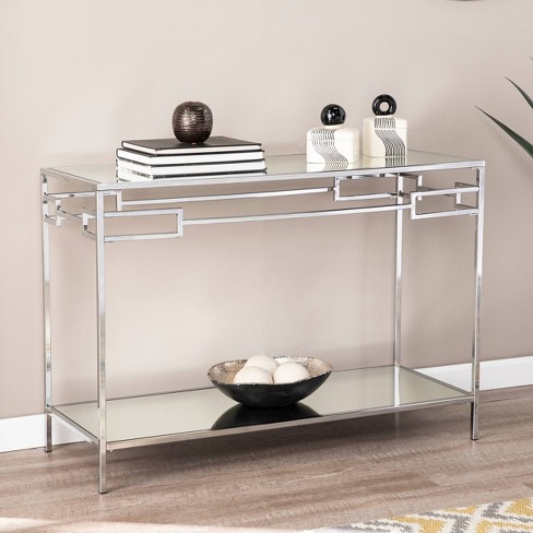 Deling Mirrored Console Table Chrome