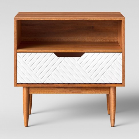Touraco Nightstand White Brown - Opalhouse™ - image 1 of 4
