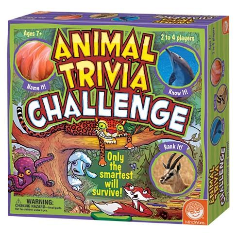 Animal Trivia Challenge Board Game - image 1 of 4
