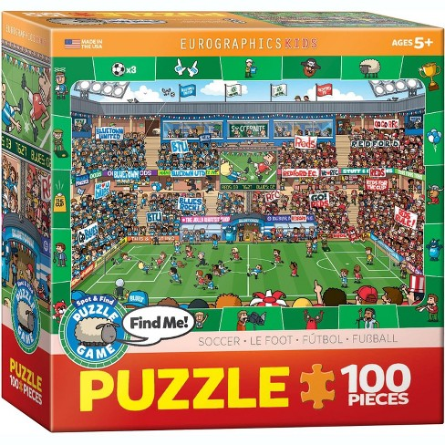 Eurographics Inc. Soccer 100 Piece Spot & Find Jigsaw Puzzle - image 1 of 4