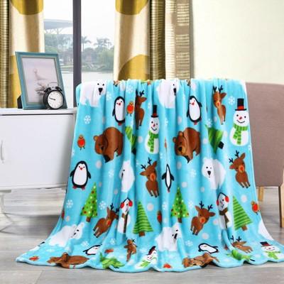 GoodGram Christmas Santa & Halloween Fleece Throw Blankets