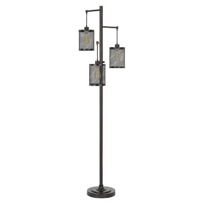 "72"" Pacific Metal Floor Lamp with Mesh Shade (Includes Light Bulb)Dark Bronze - Cal Lighting"