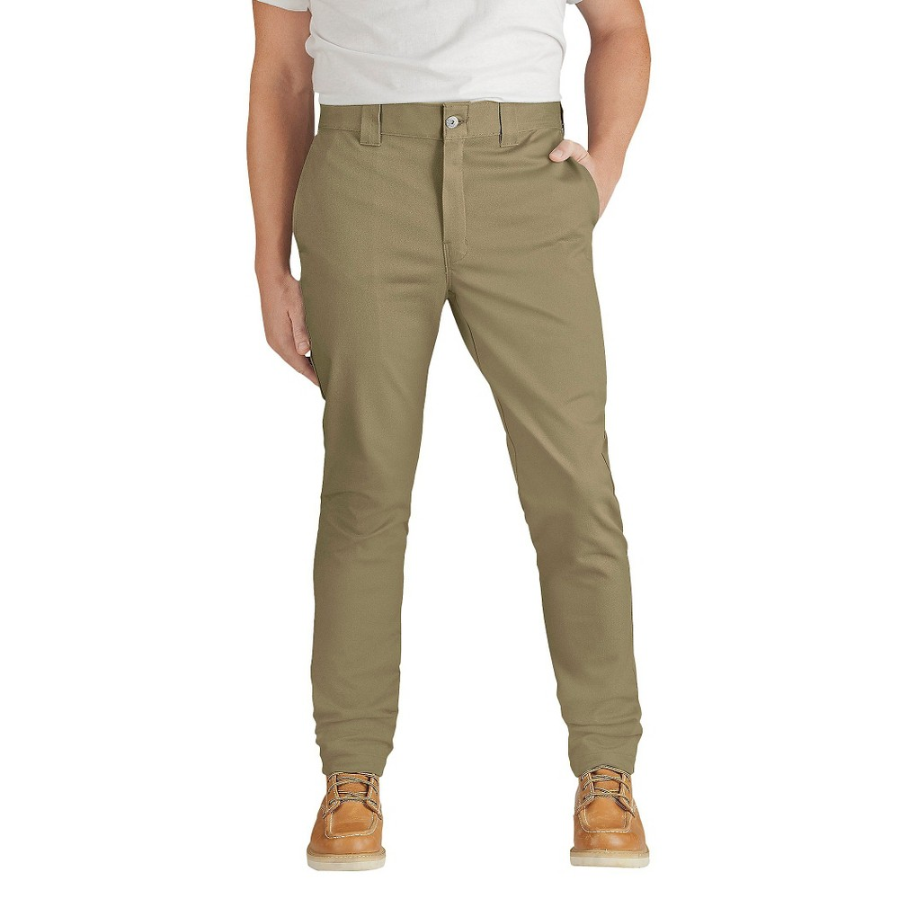 Dickies Men's Slim Skinny Fit Flex Twill Pants- British Tan 30x32