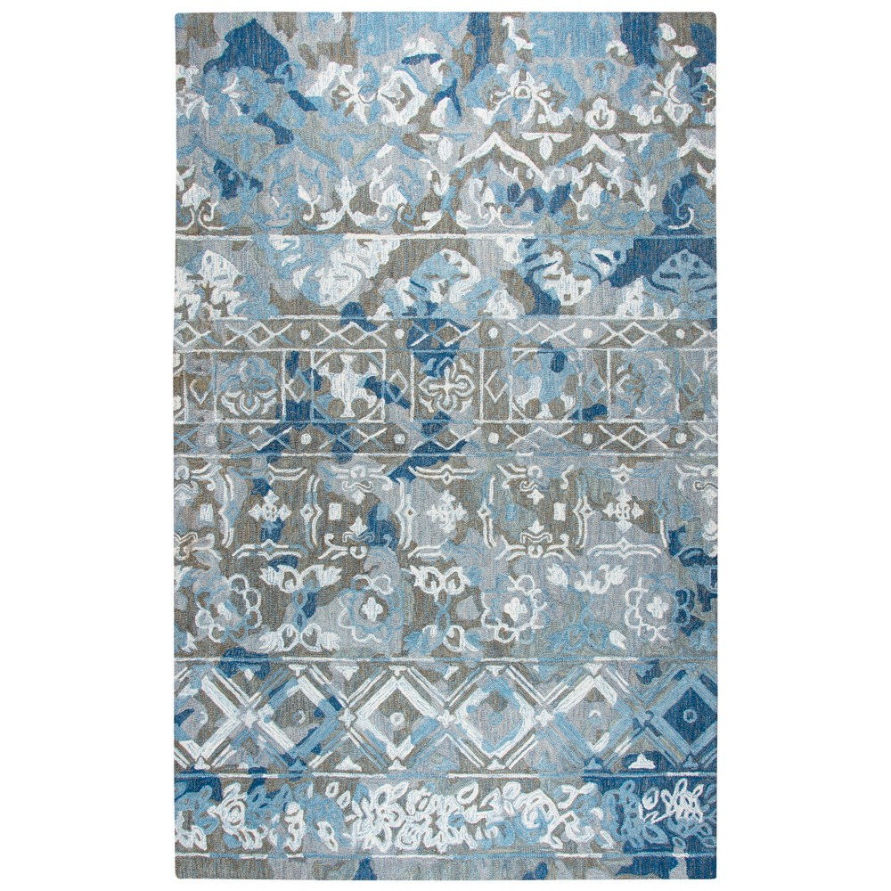 Blue Gray Abstract Tufted Area Rug - (3'x5') - Rizzy Home