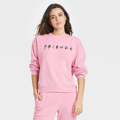Women's Friends Logo Graphic Sweatshirt - Pink