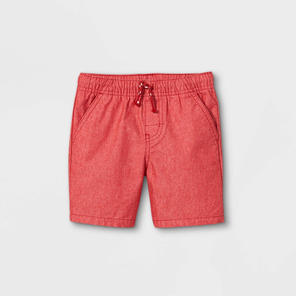 Toddler Boys 39 Woven Pull On Shorts Cat 38 Jack 8482 Bright Red 2t