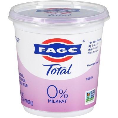 FAGE Total 0% Milkfat Plain Greek Yogurt - 35.3oz