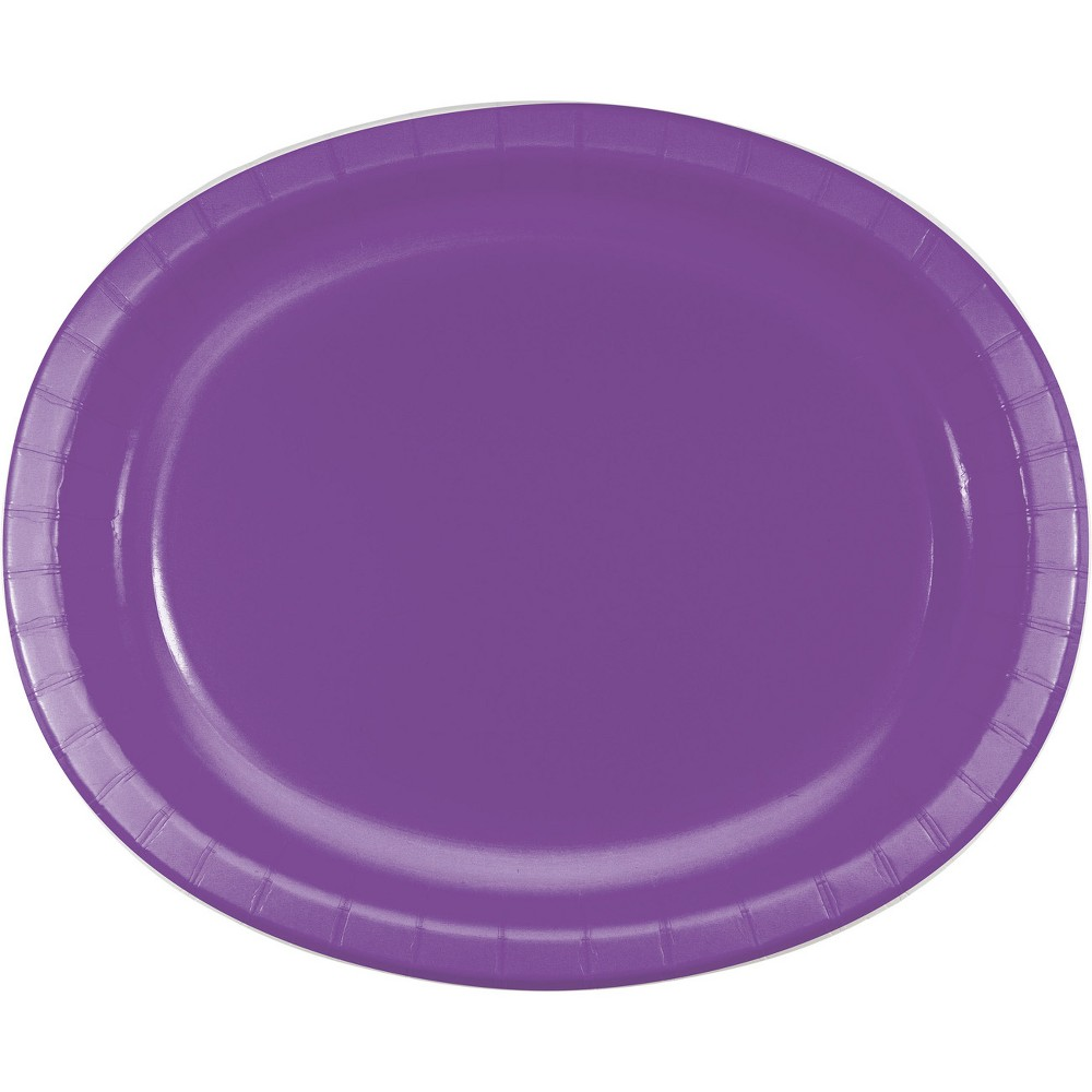 24ct Amethyst Purple Oval Plates Purple