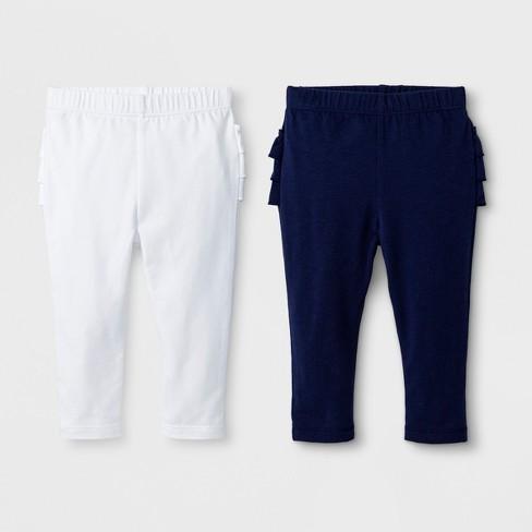 a8e98c17a Baby Girls' 2pk Leggings Set - Cat & Jack™ Nightfall Blue/True White ...
