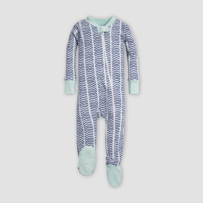 Burt's Bees Baby® Baby Watercolor Chevron Sleeper - Indigo 3-6M