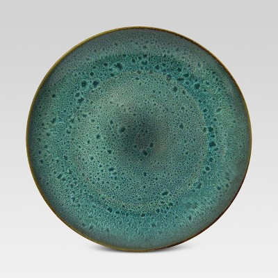 Belmont Dinner Plate Green Reactive 10.75 x10.75  - Threshold™