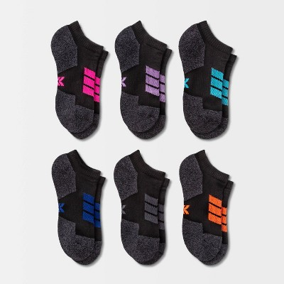 Women's Cushioned Chevron Stripe 6pk No Show Athletic Socks - All in Motion™ 4-10