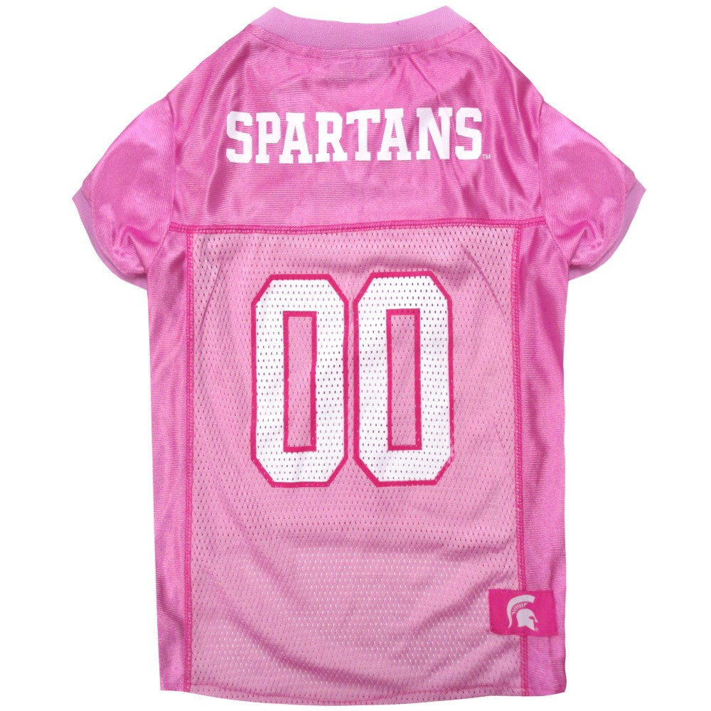 Pets First Michigan State Spartans Pink Jersey - L, Multicolored