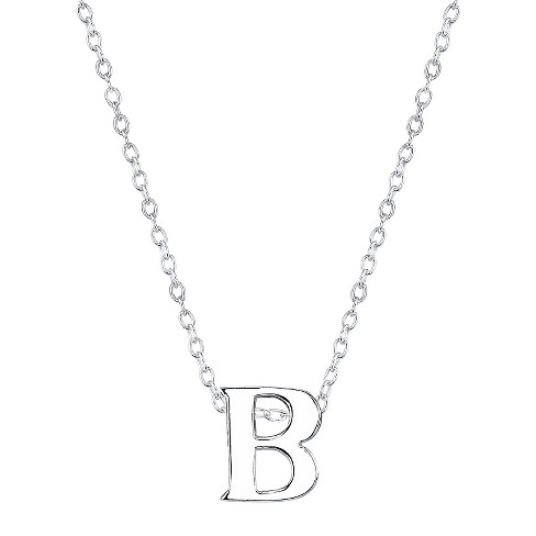 womens short station letter necklace