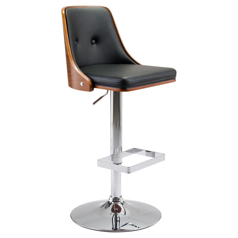 Mid Century Modern High Back Adjustable 25 Bar Chair - Black - ZM Home