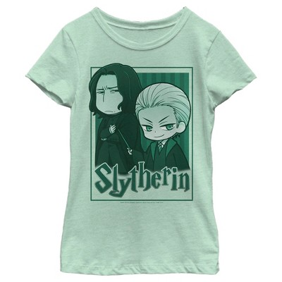 Girl's Harry Potter Slytherin Cartoon Characters T-Shirt