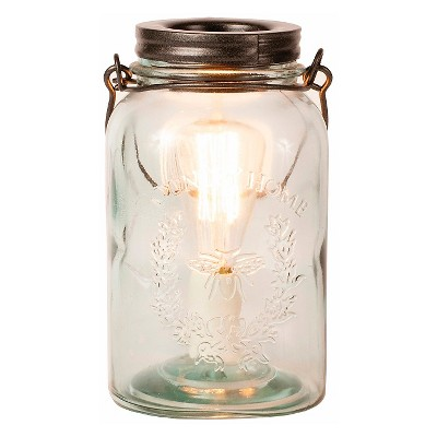 Glass Mason Jar Fragrance Warmer Clear/Copper - Ador