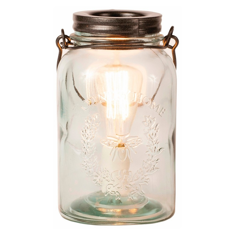 Image of Glass Mason Jar Fragrance Warmer Clear/Copper - Ador