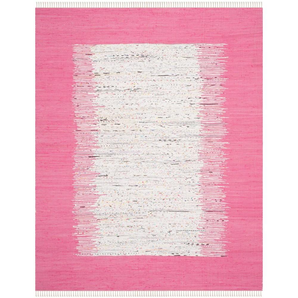 Bettina Flatweave Area Rug - Ivory / Pink (9' X 12') - Safavieh