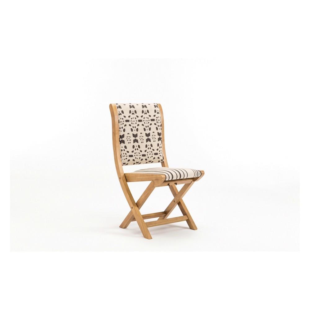 Misty Folding Chair Beige & Black - Boraam