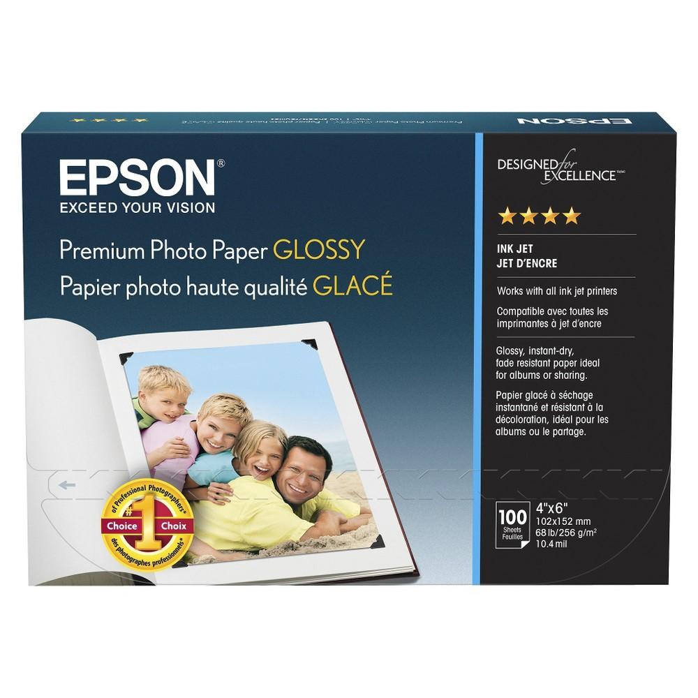 Epson 100-ct. Premium Glossy Ink Jet Photo Paper 4
