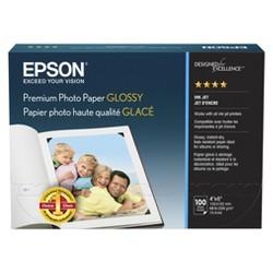 "Epson 100-ct. Premium Glossy Ink Jet Photo Paper 4""x6"""