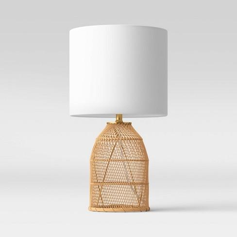 Rattan Diagonal Weave Table Lamp Tan - Opalhouse™ - image 1 of 4