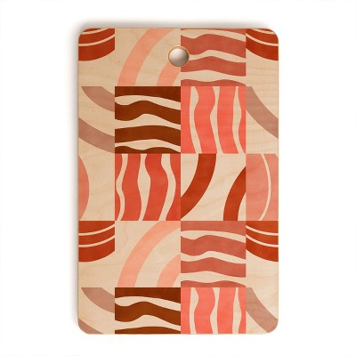 Marta Barragan Camarasa Terracotta Modern Shapes Rectangle Cutting Board - Deny Designs