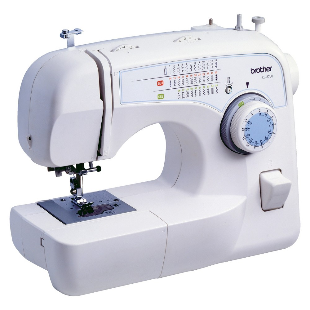 Brother International XL3750 Sewing Machine Bring to life all of your best ideas with this XL3750 Sewing Machine from Brother International. The sophisticated and sturdy design is ideal for avid quilters and Diy enthusiasts, while its convenient and easy setup suits the needs of beginners as well. With a built-in light and preset stitch patterns for any sewing project imaginable, this advanced sewing machine is the perfect gift whether you're shopping for your future fashion designer or a longtime hobbyist.