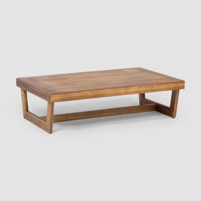 Sherwod Acacia Wood Coffee Table - Teak - Christopher Knight Home