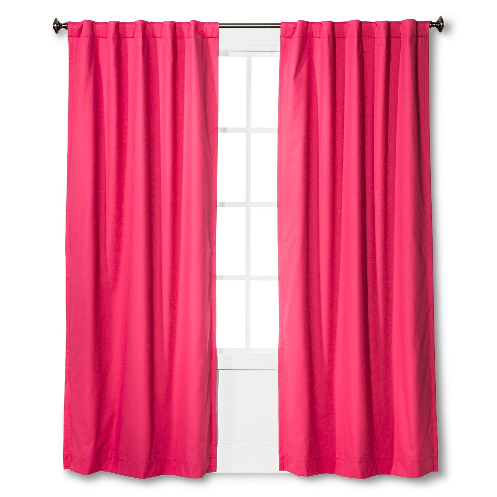 Twill Blackout Curtain Panel Pink (42