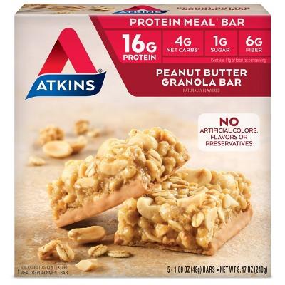Atkins Granola Meal Bar - Peanut Butter - 5ct