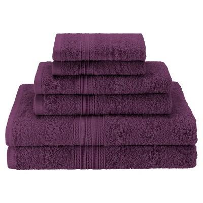 Eco-Friendly Ringspun Cotton Modern Absorbent 6-Piece Towel Set - Blue Nile Mills