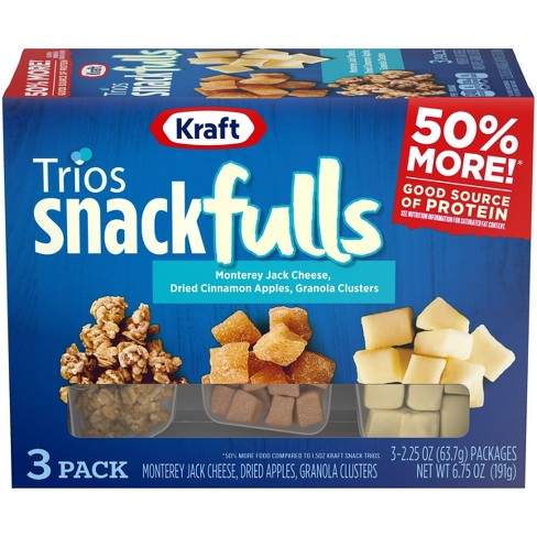 Kraft Snack Monterey Jack Cheese Dried Apples  And Granola Clusters Snack Pack- 3pk - image 1 of 3