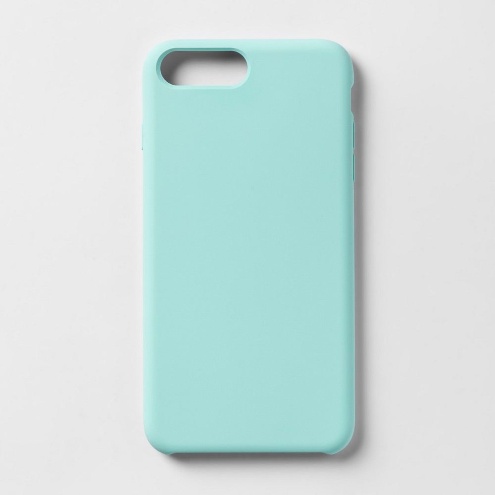heyday Apple iPhone 8 Plus/7 Plus/6s Plus/6 Plus Silicone Case - Teal (Blue)