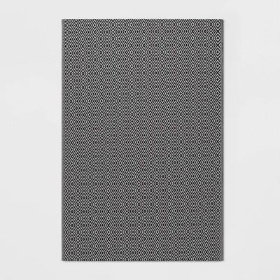 Patio Mat Reversible Diamond Black - Room Essentials™