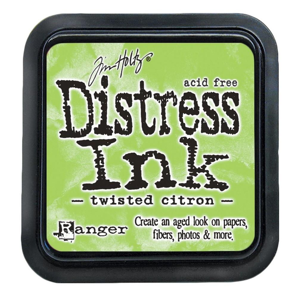 Tim Holtz Distress Ink Pad-Twisted Citron 2.25x2.25, Twisted Citron