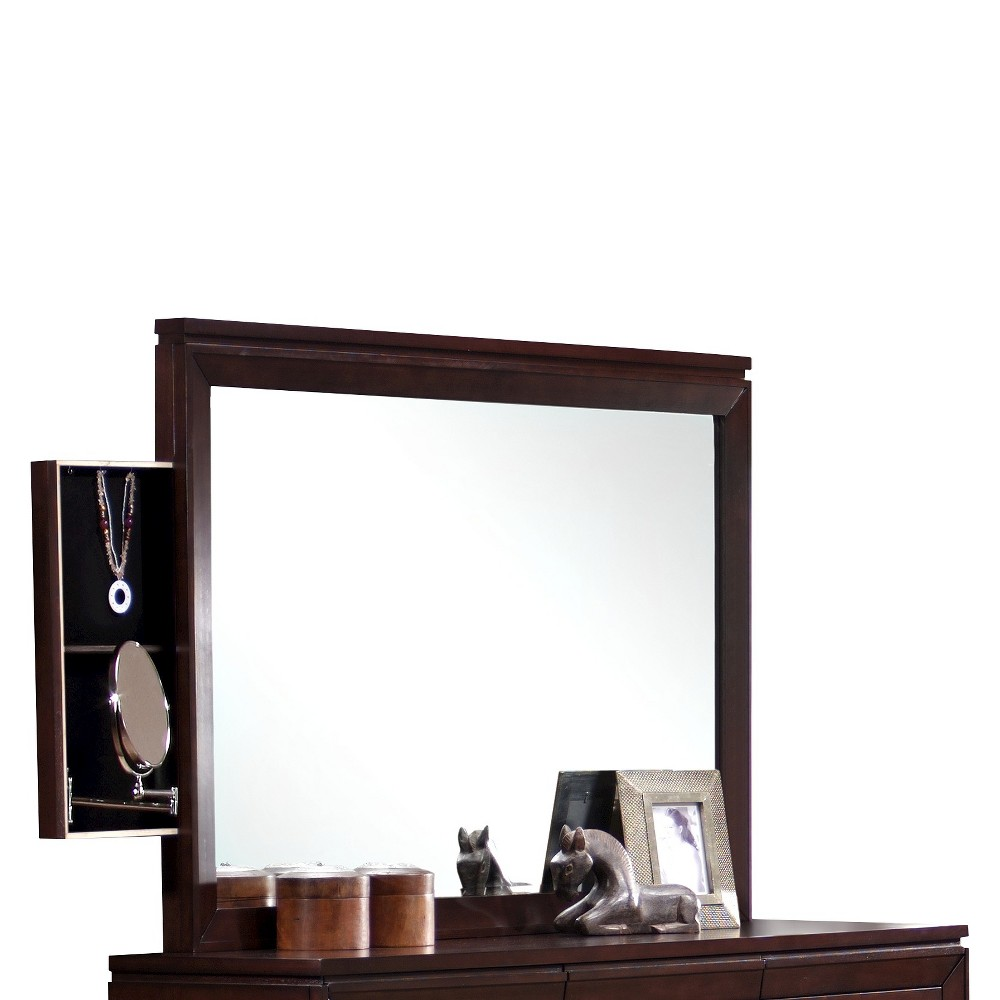 Image of Caleb Rectangle Mirror Espresso - Picket House Furnishings, Brown