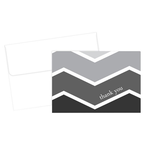Ombre Thank You Cards (50ct) - Black/Gray - image 1 of 1