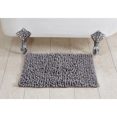 Loopy Chenille Bath Rug Gray - Better Trends