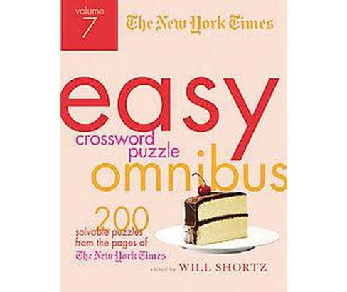 The New York Times Easy Crossword Puzzle Omnibus (Paperback) - image 1 of 1