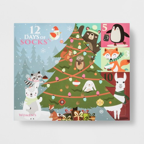 womens woodland critters 12 days of socks advent calendar colors may vary 4 10 target