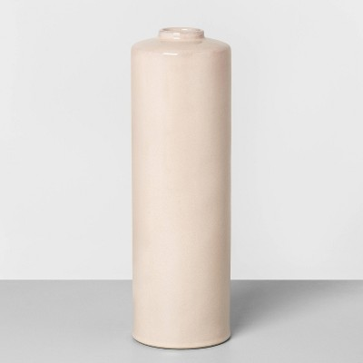 "14"" Ceramic Skinny Vase Dusty Pink - Hearth & Hand™ with Magnolia"