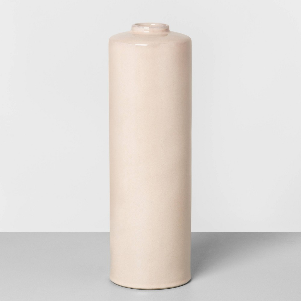 "Image of ""14"""" Ceramic Skinny Vase Dusty Pink - Hearth & Hand with Magnolia"""