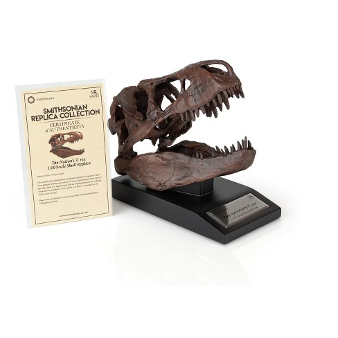 Master Replicas The Nation's T-Rex Skull Statue | 6-Inch Smithsonian Fossil Replica| 1:10 Scale - image 1 of 4