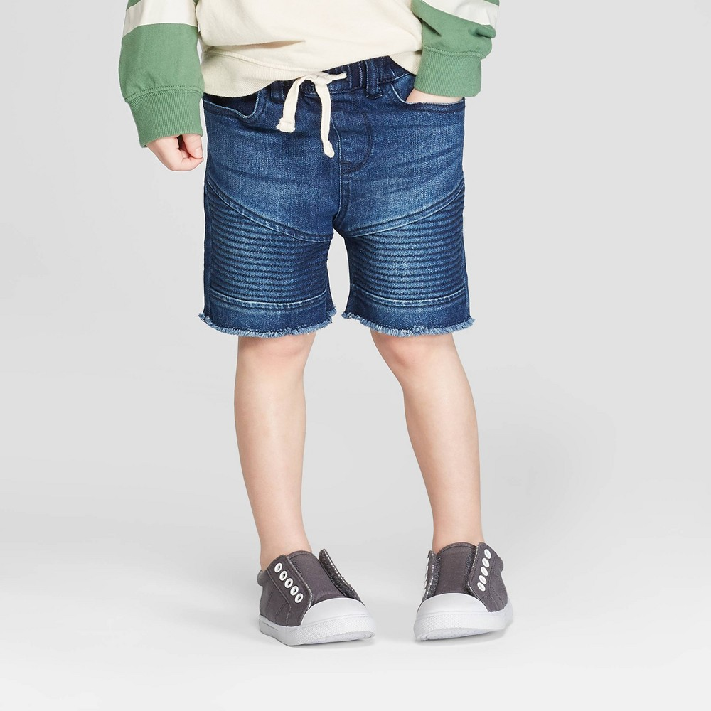 878abb5ff Toddler Boys Moto Denim Shorts art class Blue 4T