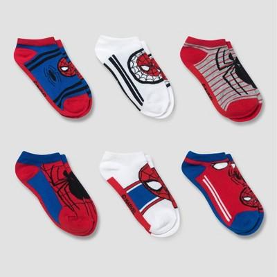 Boys' Spider-Man 6pk No Show Socks