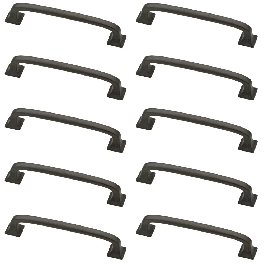 10pk 4 Lombard Pull Soft Iron Gray - Franklin Brass